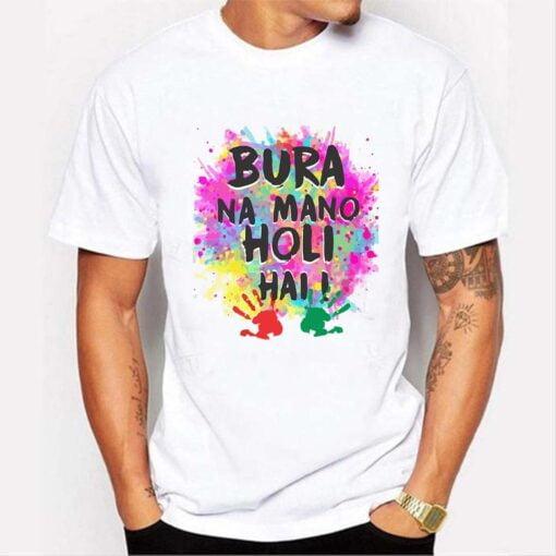 Gulal Color Holi T shirt - White