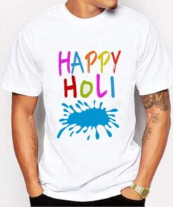 Happy Holi T shirt - White