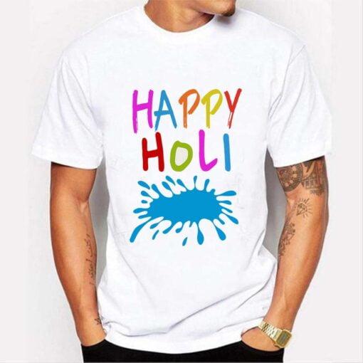 Happy Holi T shirt - White