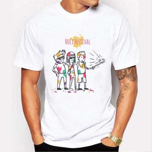 Holi Festivel Holi T shirt - White