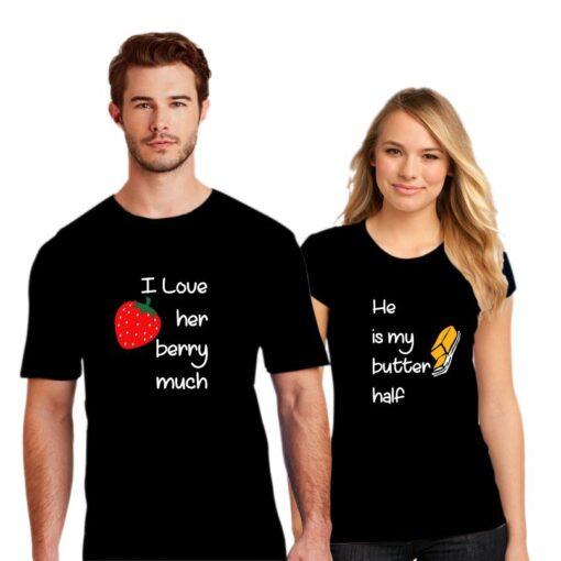 Berry Butter Couple T shirt