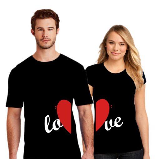 Half Love Couple T shirt