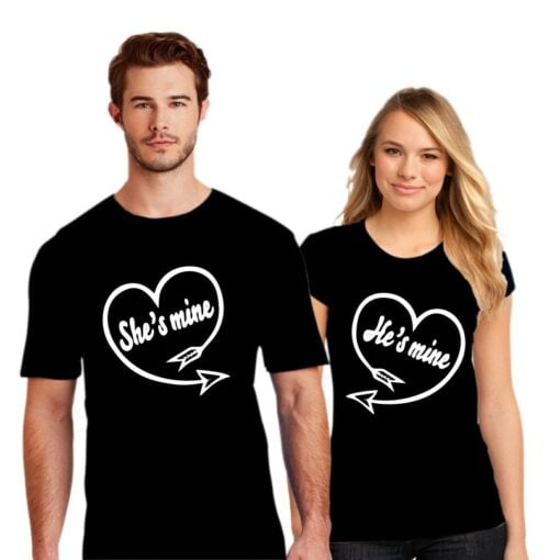 He is Mine Couple T shirt