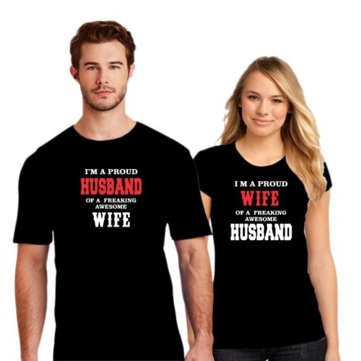 Husband Wife Couple T shirt