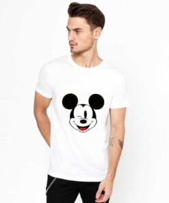 Mickey Face White T shirt