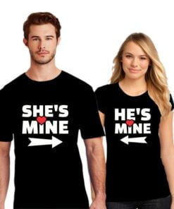 She is Mine Couple T shirt