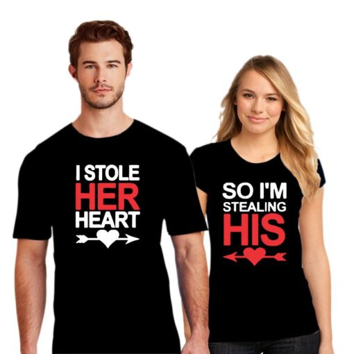 Stole Her Heart Couple T shirt