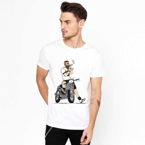 Stud Boy White T shirt