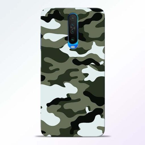 Army Camo Poco X2 Mobile Cover
