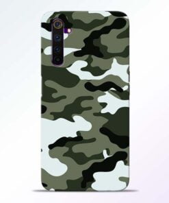 Army Camo Realme 6 Mobile Cover
