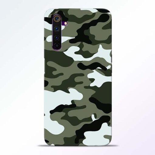 Army Camo Realme 6 Mobile Cover
