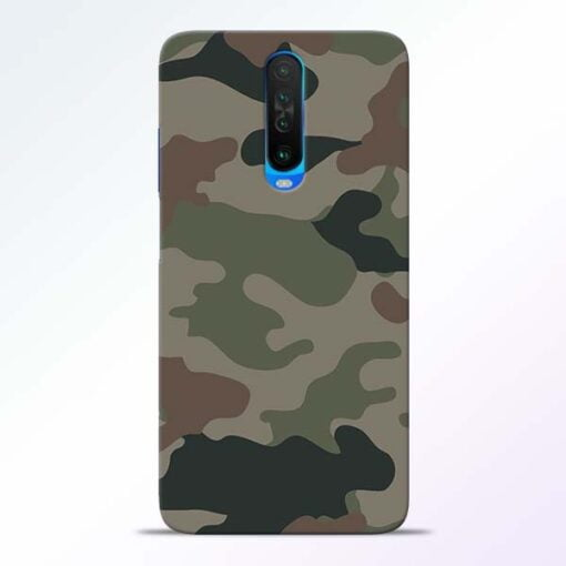 Army Camouflage Poco X2 Mobile Cover