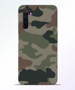 Army Camouflage Realme 6 Mobile Cover
