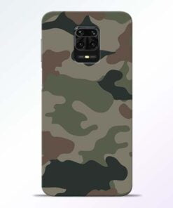 Army Camouflage Redmi Note 9 Pro Mobile Cover