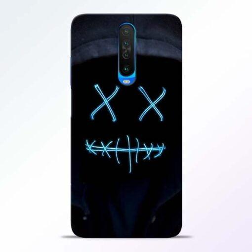 Black Marshmello Poco X2 Mobile Cover
