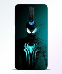 Black Spiderman Poco X2 Mobile Cover