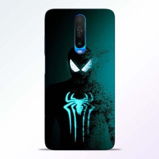Black Spiderman Poco X2 Mobile Cover