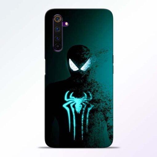 Black Spiderman Realme 6 Pro Mobile Cover