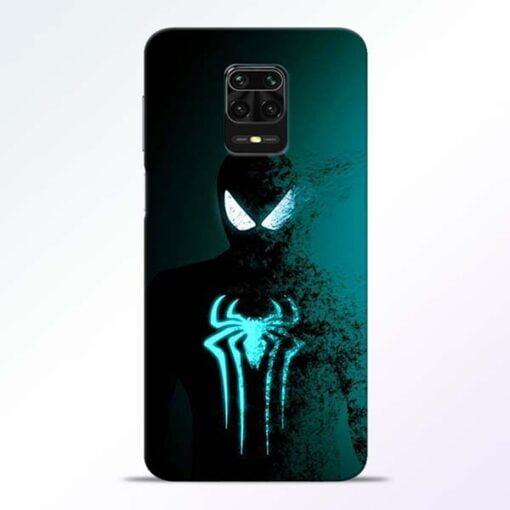 Black Spiderman Redmi Note 9 Pro Mobile Cover