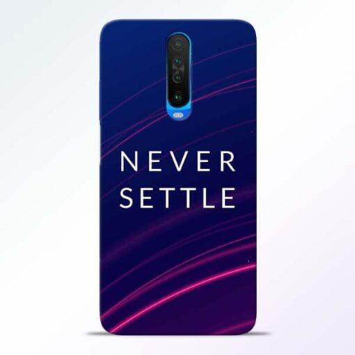 Blue Never Settle Poco X2 Mobile Cover