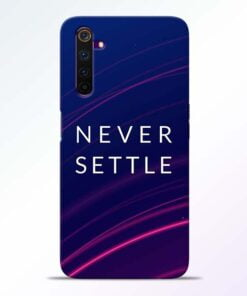 Blue Never Settle Realme 6 Mobile Cover
