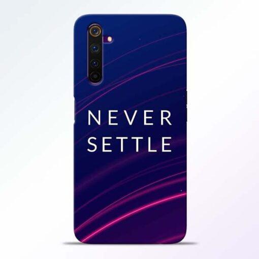 Blue Never Settle Realme 6 Pro Mobile Cover