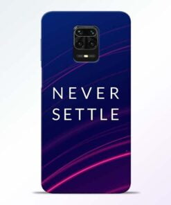 Blue Never Settle Redmi Note 9 Pro Mobile Cover