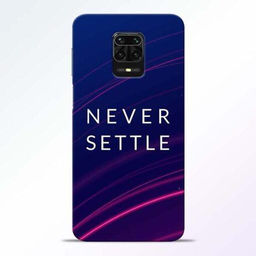 Blue Never Settle Redmi Note 9 Pro Mobile Cover