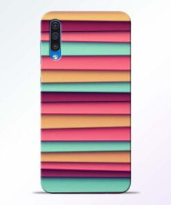 Color Stripes Samsung Galaxy A50 Mobile Cover
