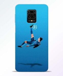Football Kick Redmi Note 9 Pro Mobile Cover