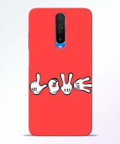 Love Symbol Poco X2 Mobile Cover