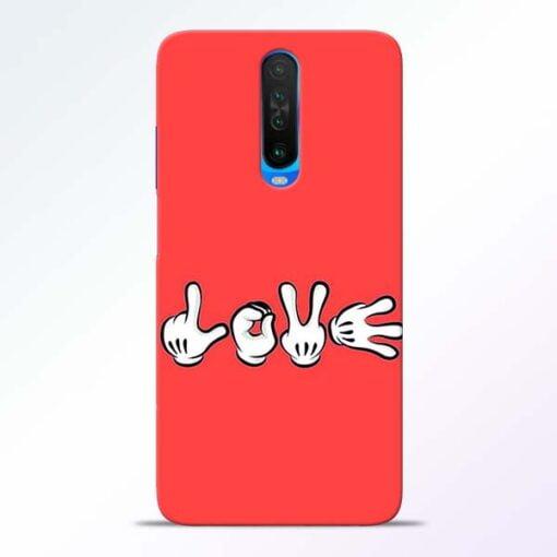 Love Symbol Poco X2 Mobile Cover