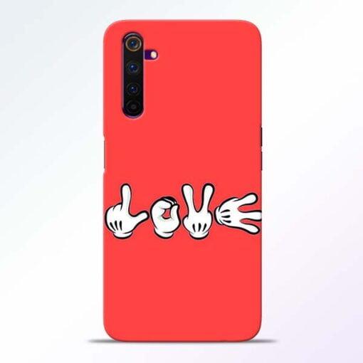 Love Symbol Realme 6 Mobile Cover