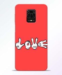 Love Symbol Redmi Note 9 Pro Mobile Cover
