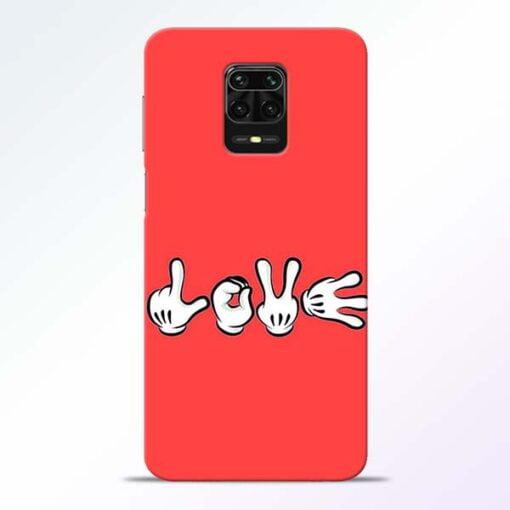 Love Symbol Redmi Note 9 Pro Mobile Cover