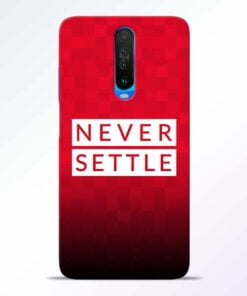 Never Settle Poco X2 Mobile Cover