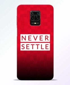 Never Settle Redmi Note 9 Pro Mobile Cover