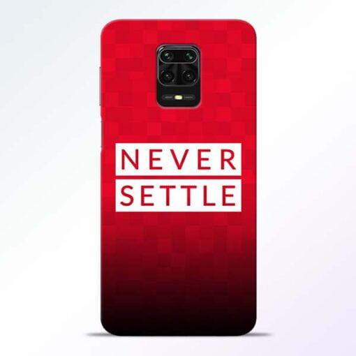 Never Settle Redmi Note 9 Pro Mobile Cover