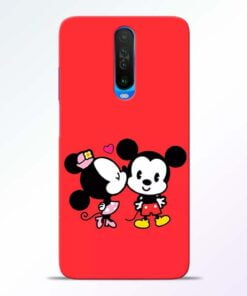 Red Cute Mouse Poco X2 Mobile Cover