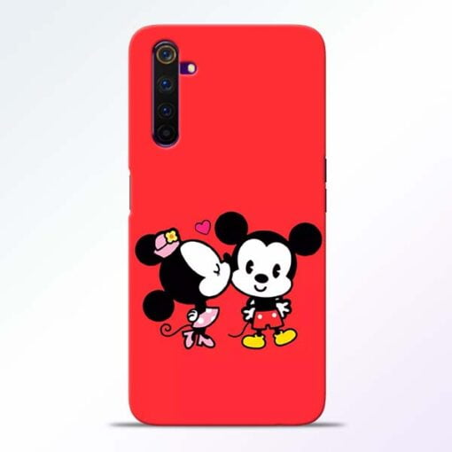 Red Cute Mouse Realme 6 Mobile Cover