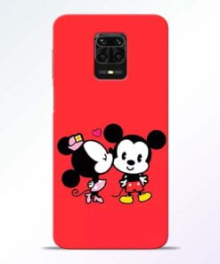 Red Cute Mouse Redmi Note 9 Pro Mobile Cover