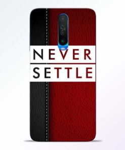 Red Never Settle Poco X2 Mobile Cover