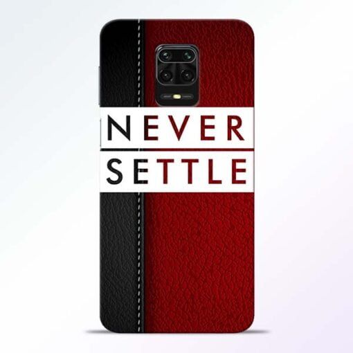 Red Never Settle Redmi Note 9 Pro Mobile Cover