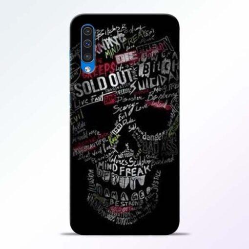 Skull Face Samsung Galaxy A50 Mobile Cover