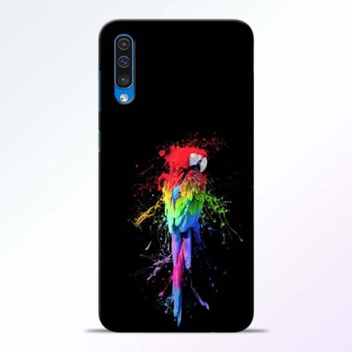 Splatter Parrot Samsung Galaxy A50 Mobile Cover