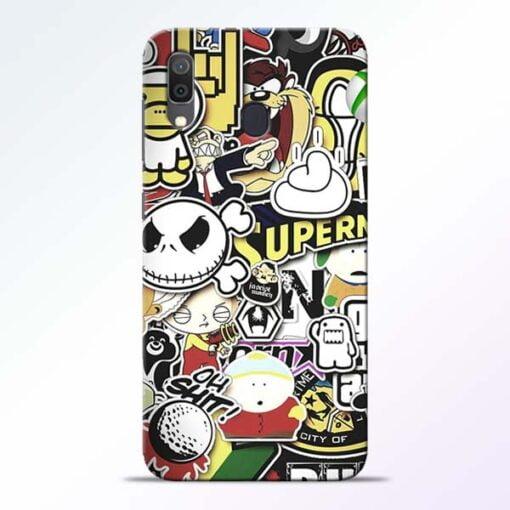 Sticker Bomb Samsung Galaxy A30 Mobile Cover