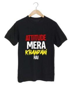 Attitude Mera Black T shirt