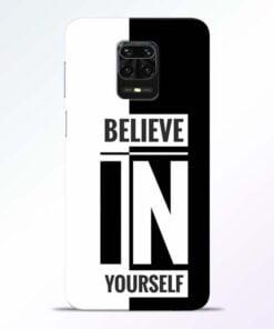 Believe Yourself Redmi Note 9 Pro Mobile Cover