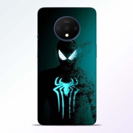 Black Spiderman OnePlus 7T Mobile Cover