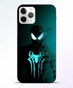 Black Spiderman iPhone 11 Pro Max Mobile Cover